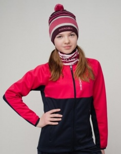 Куртка лыжная  разминочная NORDSKI Premium Junior Pink-Blueberry 482951
